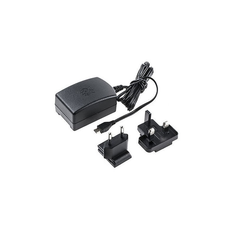Raspberry Pi 3 wall charger 2 5A, black (123-5272)