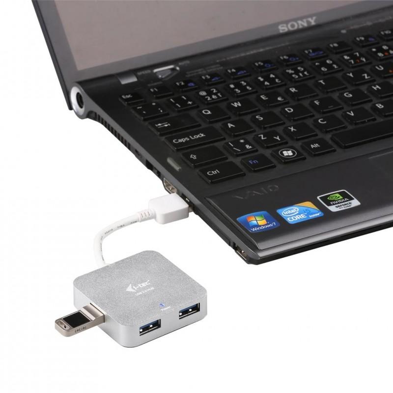 i-tec USB 3 0 Metal Passive HUB 4 Port for Notebook Ultrabook Tablet PC