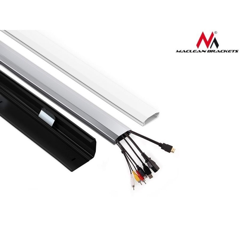 Maclean cable cover Home Cinema 60x20x750mm, silver (MC-693S ...