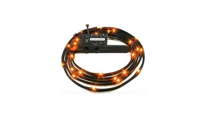 NZXT Sleeved LED Kit - Two Meters, Orange