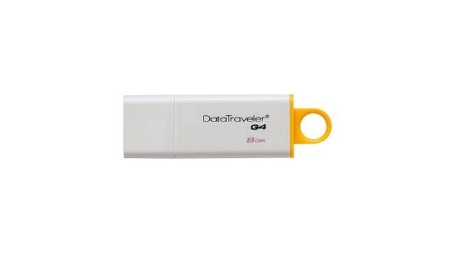 Kingston mälupulk 8GB DataTraveler G4 USB 3.1, valge