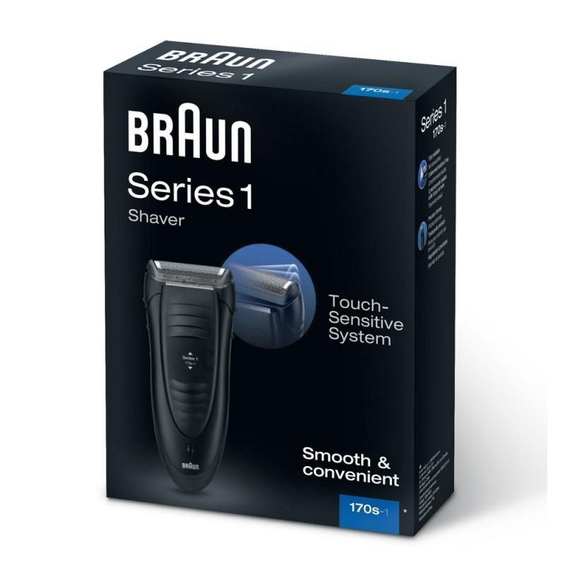 braun shaver 170 series 1 black shavers photopoint. Black Bedroom Furniture Sets. Home Design Ideas