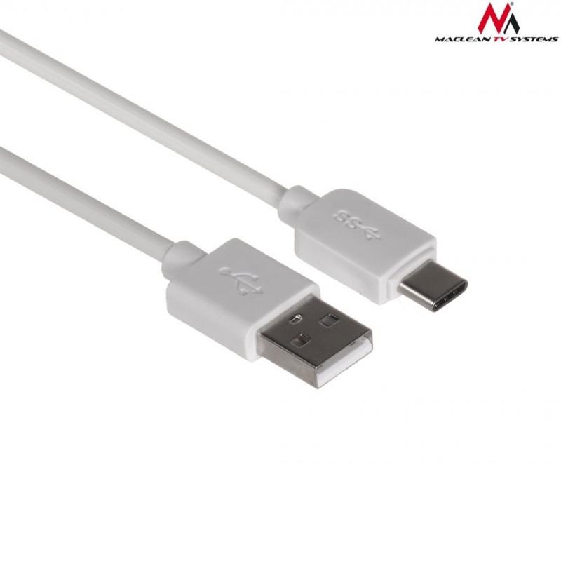 3fdae91afb6 Maclean kaabel USB - USB-C 1m, valge (MCTV-831W) - Kaablid - Photopoint