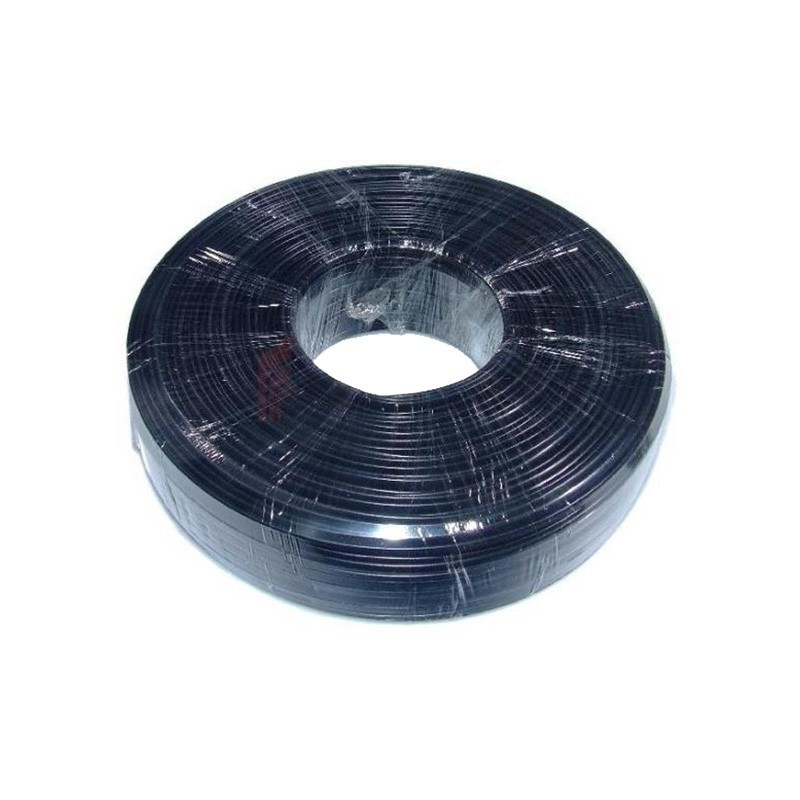 Telephone Cable 100m 2 wires flat black - Cables - Photopoint