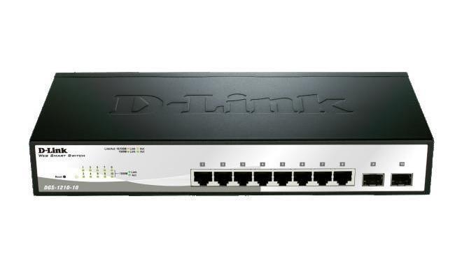 D-Link switch 10-port 10/100/1000 Gigabit Smart including 2 Combo 1000BaseT/SFP