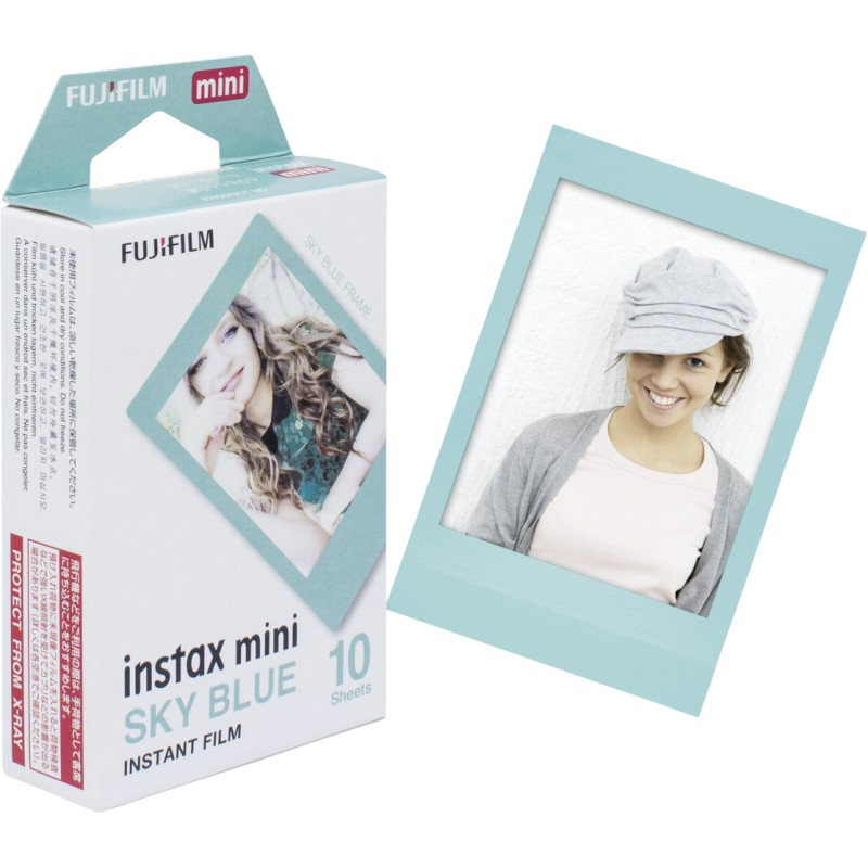 Fujifilm Instax Mini 1x10 Sky Blue Frame