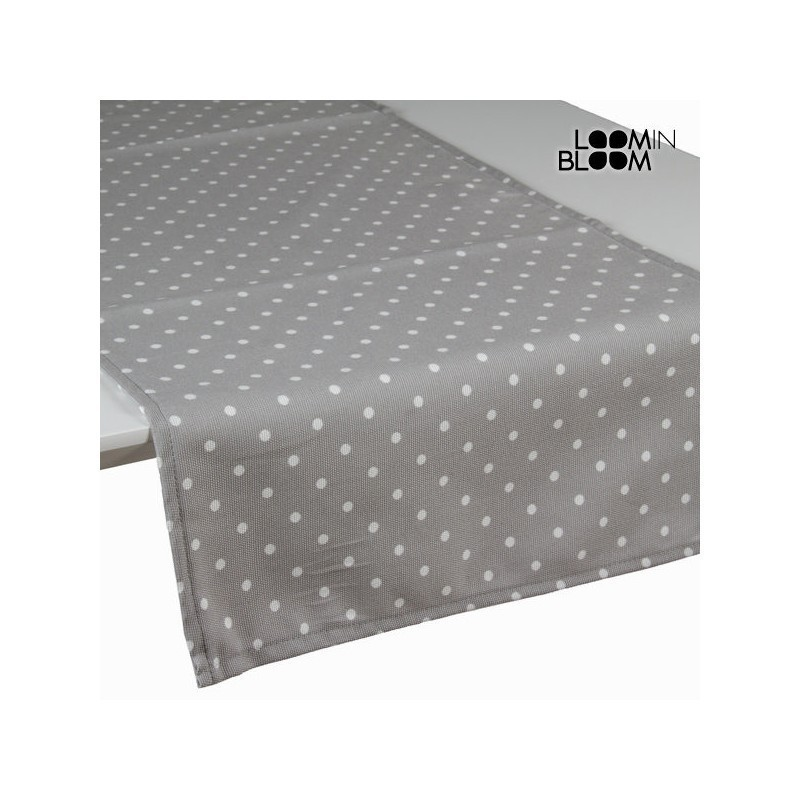 Grey Polka Dot Table Runner Little Gala Collection By Loom In Bloom