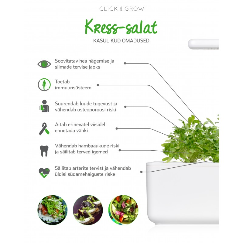 Click & Grow Smart Garden refill Kress-salat 3tk