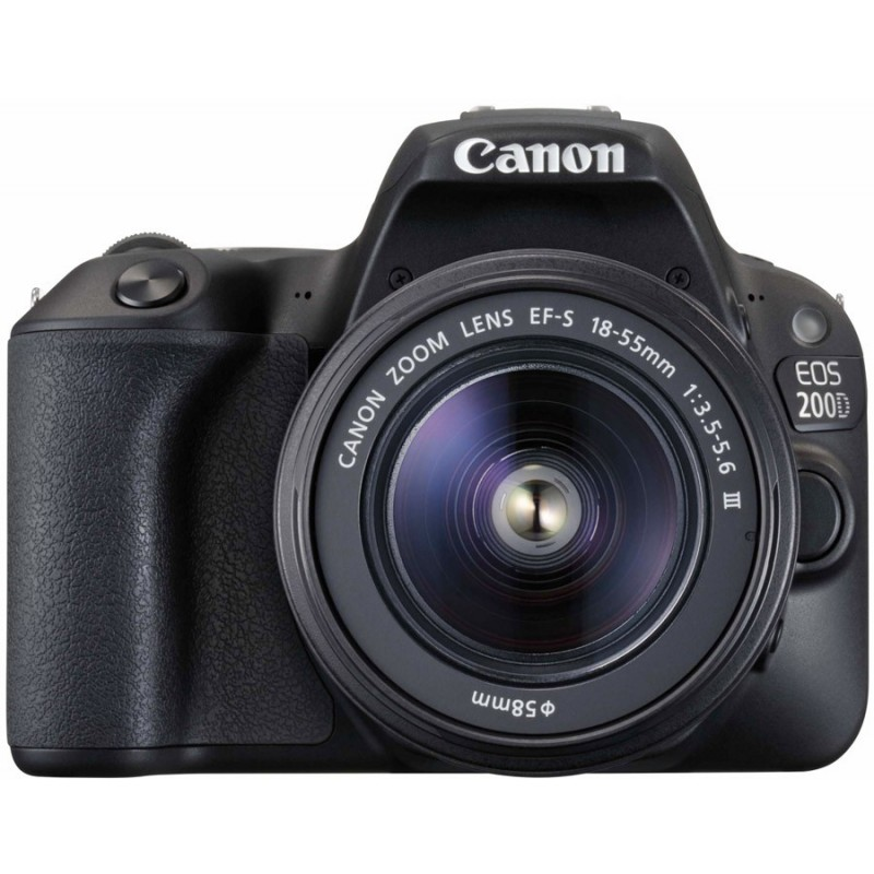 Canon EOS 200D + 18-55mm DC III Kit, черный