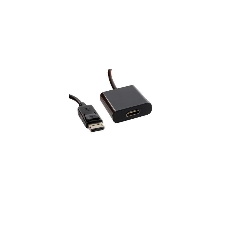 4World Adapter DisplayPort [M] > HDMI [F], cable, black