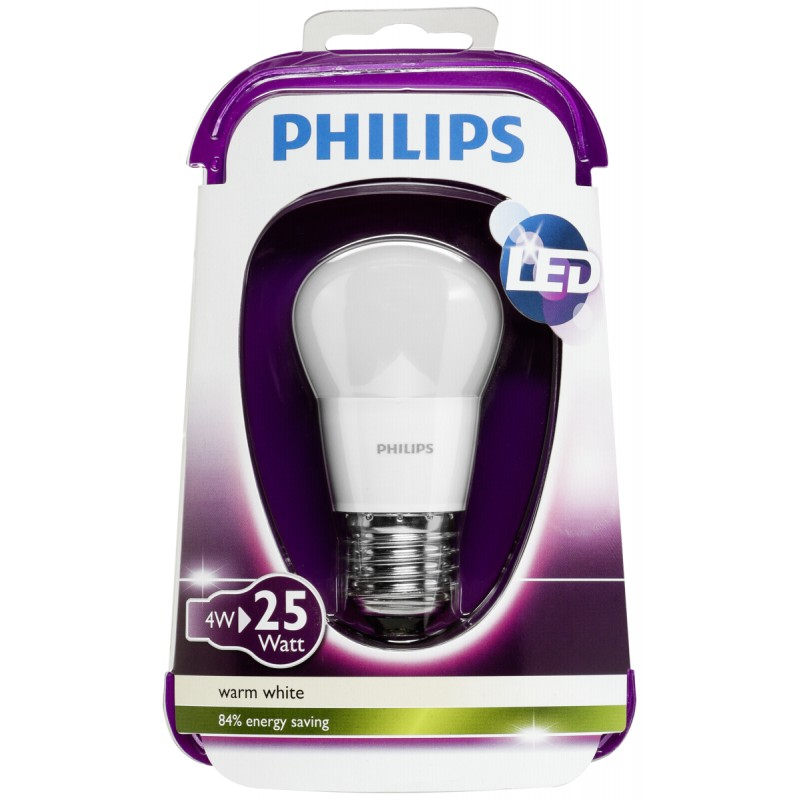 philips led lamp e27 4w 25w warm white 250lm matt led. Black Bedroom Furniture Sets. Home Design Ideas