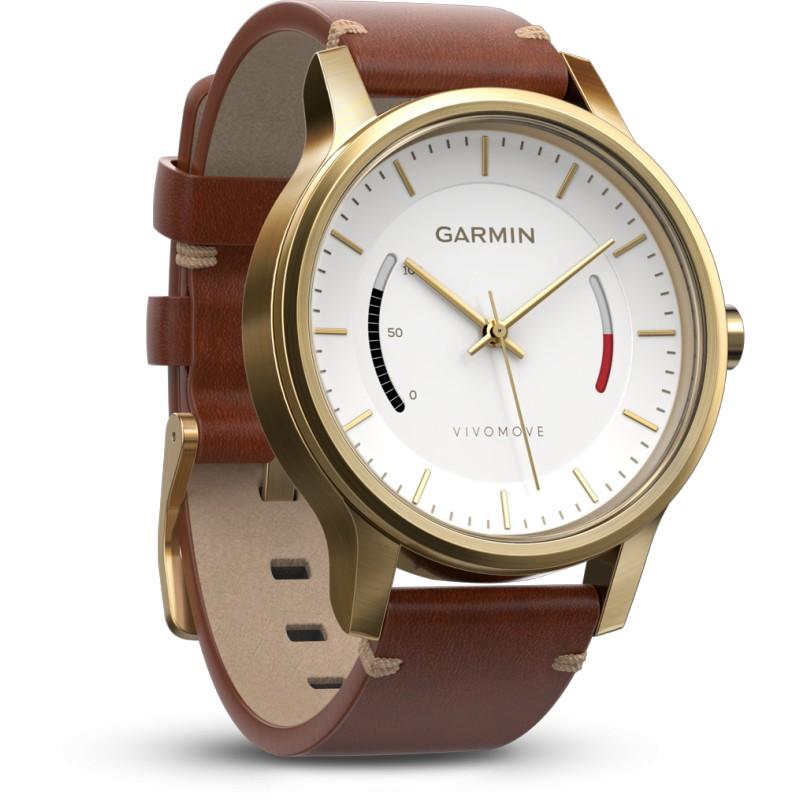 Garmin Vivomove Premium, kuldne/nahk
