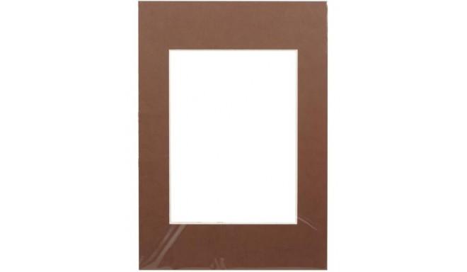 Passepartout 15x21, dark brown