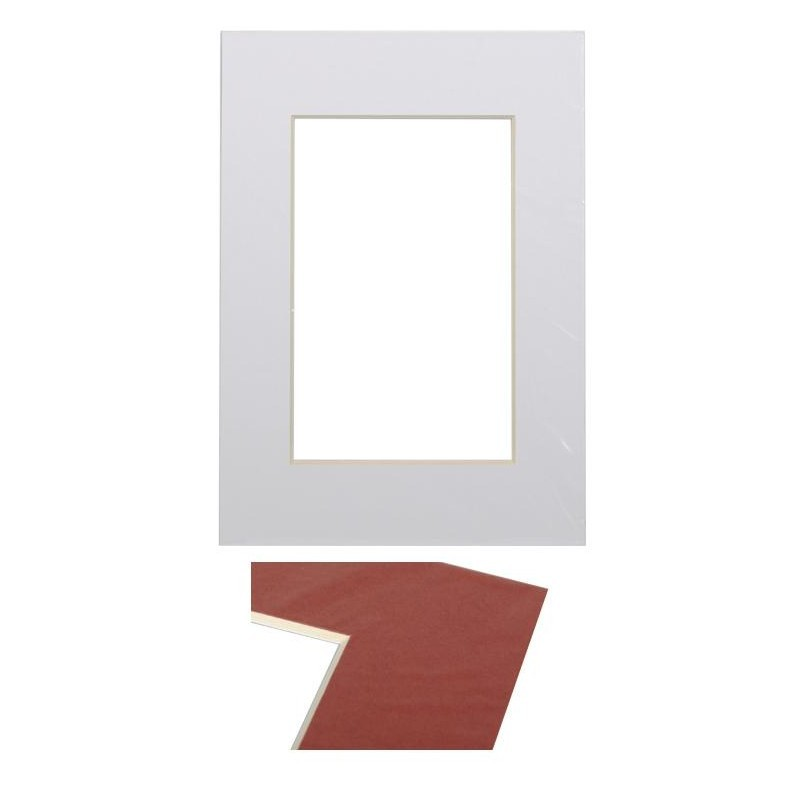 Paspartuu 15×21, ultra valge