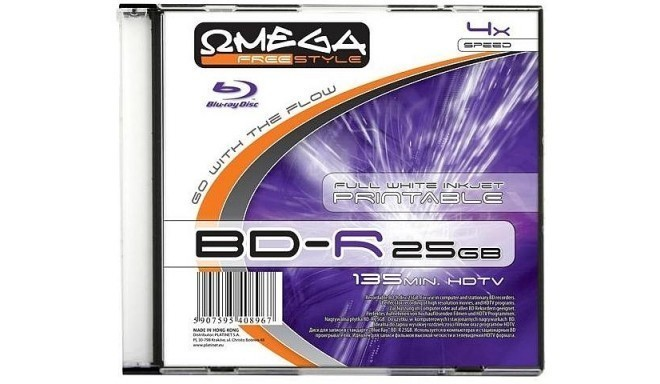 Omega Freestyle BD-R Printable 25GB 6x slim