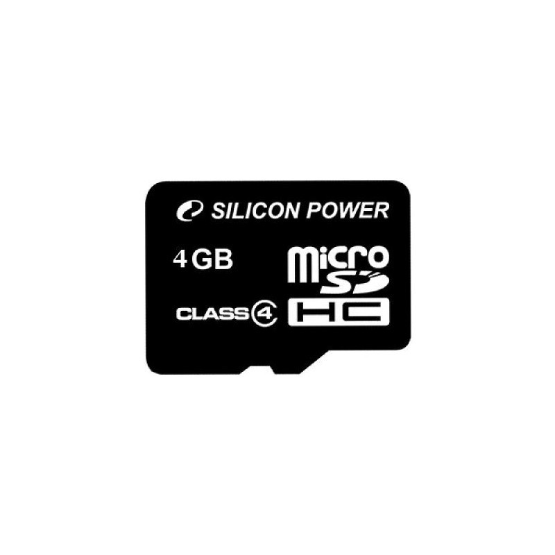 Silicon Power mälukaart microSDHC 4GB Class 4