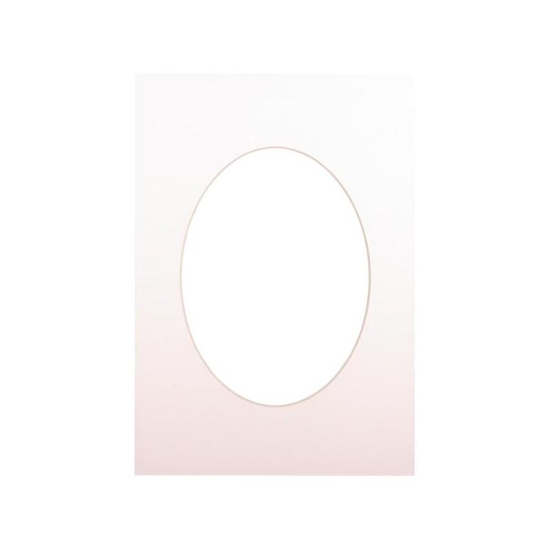 Passepartout 15×21, soft white oval