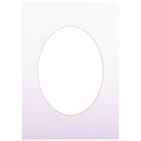 Passepartout 30x40, ultra white oval