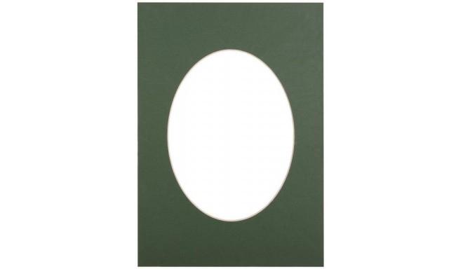 Paspartuu 30x40, roheline ovaal