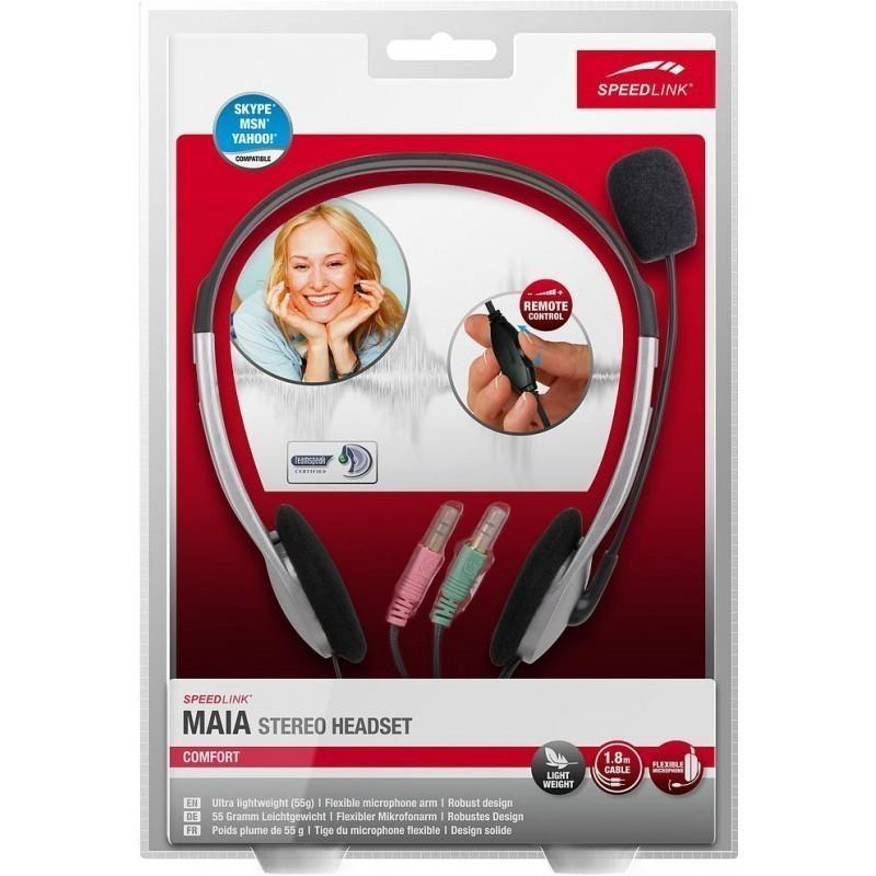 Speedlink kõrvaklapid + mikrofon Maia SL8720-SV