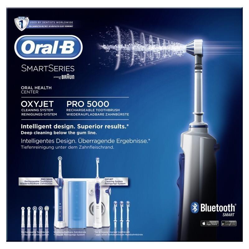 braun oral b center oxyjet oral irrigator pro 5000 smart. Black Bedroom Furniture Sets. Home Design Ideas