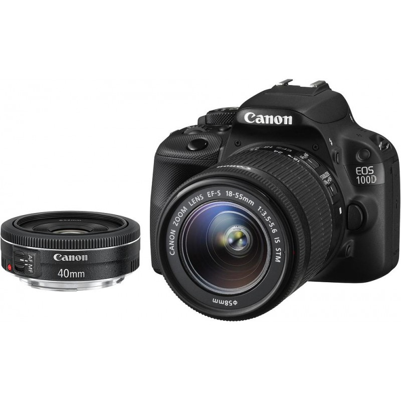 Canon EOS 100D + 18-55mm IS STM + 40mm STM Kit