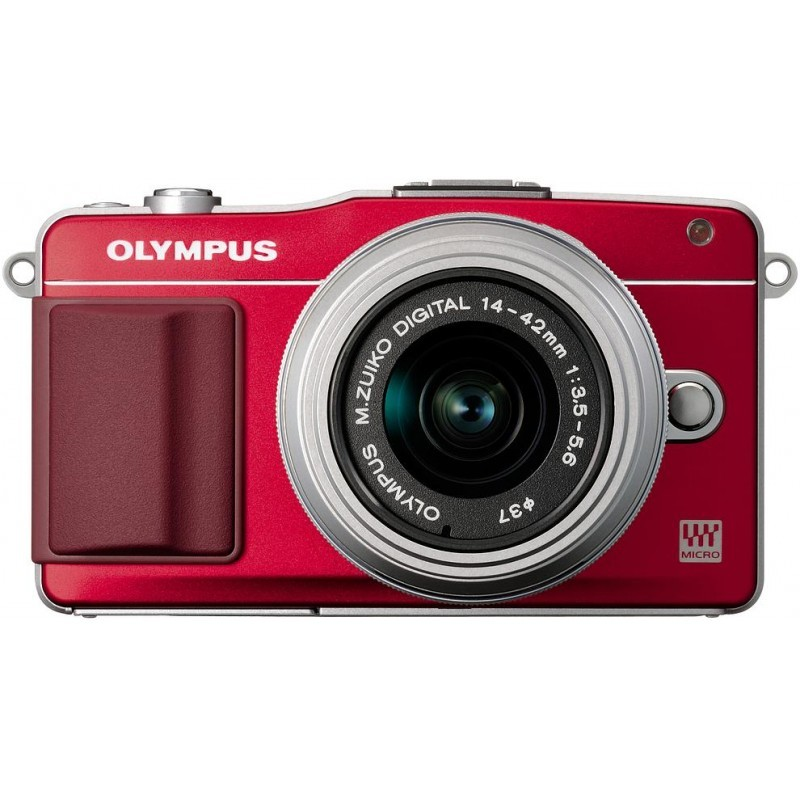 Olympus PEN Mini E-PM2 + 14-42 мм II Kit красный