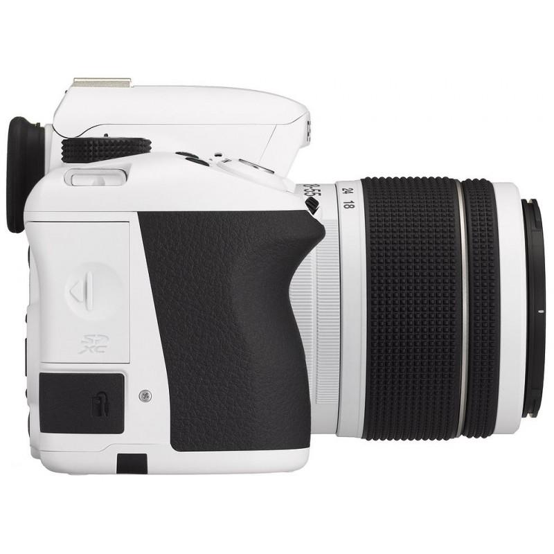 Pentax K-50 + 18-55mm WR Kit, valge