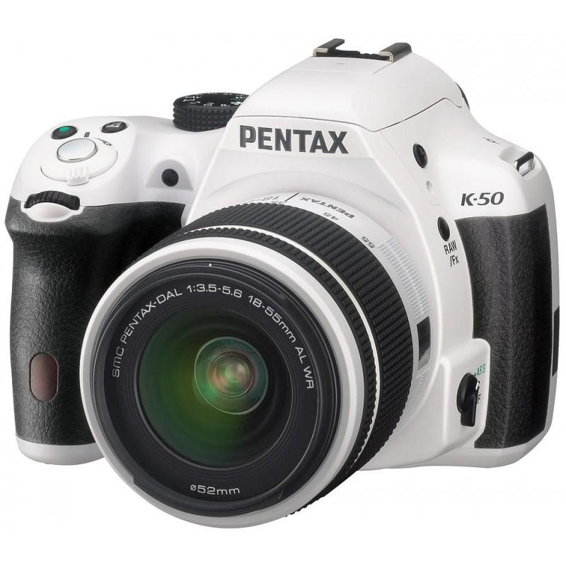 Pentax K-50 + 18-55мм WR Kit, белый