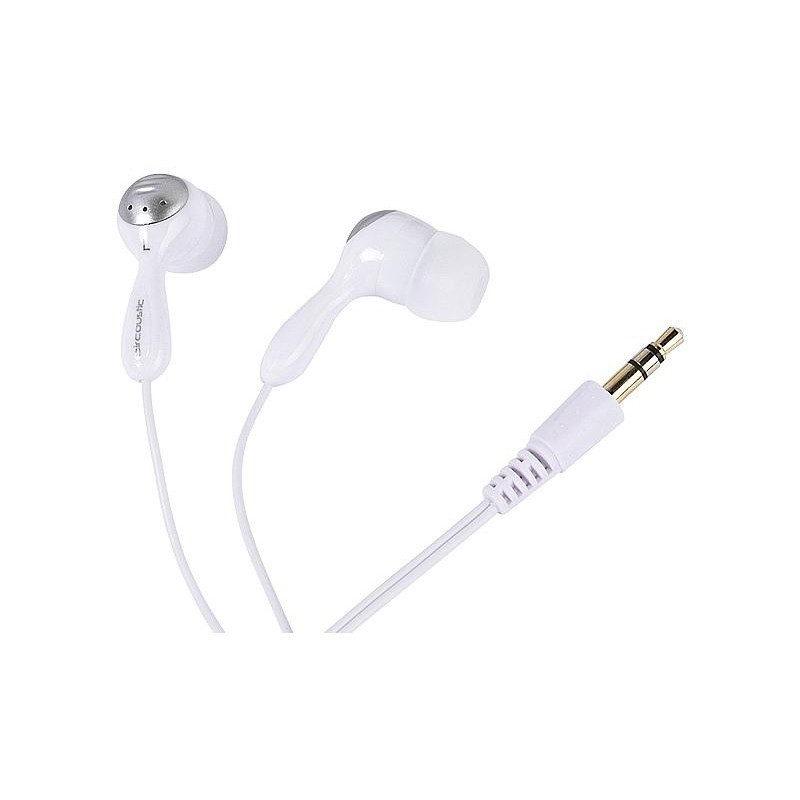 Vivanco earphones URX210, white/silver (32225)