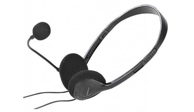 Vivanco austiņas ar mikrofonu Basic, melnas (31929)