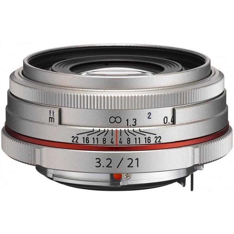 HD Pentax DA 21mm f/3.2 AL Limited objektiiv, hõbedane