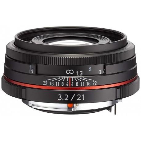 HD Pentax DA 21mm f/3.2 AL Limited objektiiv, must