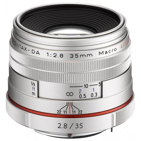 HD Pentax DA 35мм f/2.8 Macro Silver Limited объектив, серебристый