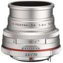 HD Pentax DA 70mm f/2.4 Limited hõbedane objektiiv