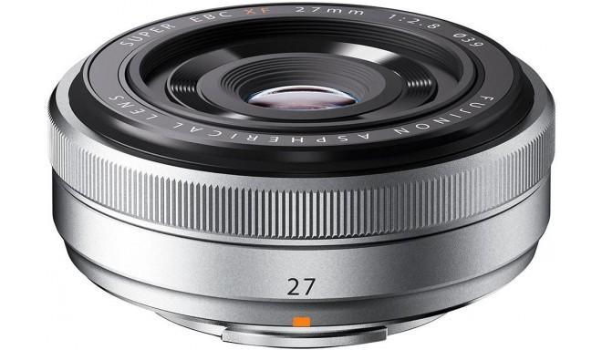Fujinon XF 27mm f/2.8, sudrabots