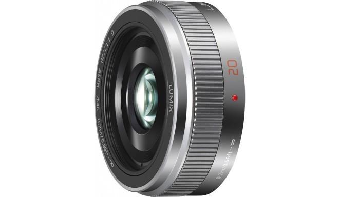 Panasonic Lumix G 20mm f/1.7 II ASPH objektiiv, hõbedane