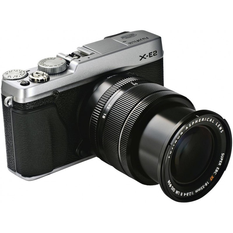 Fujifilm X-E2 + 18-55mm, hõbedane