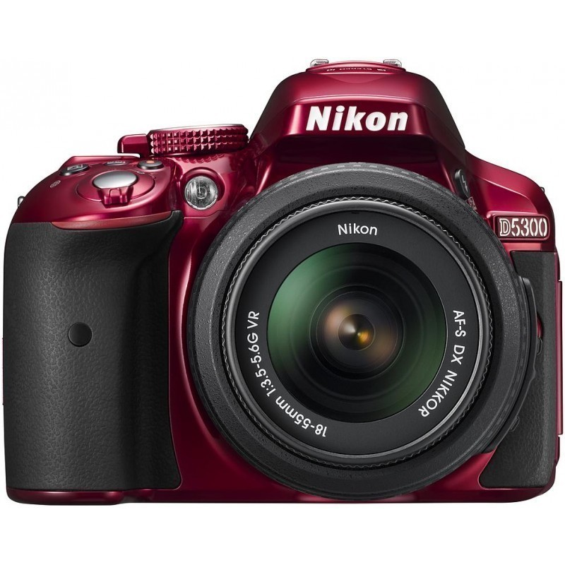 Nikon D5300 + 18-55 мм VR Kit, красный