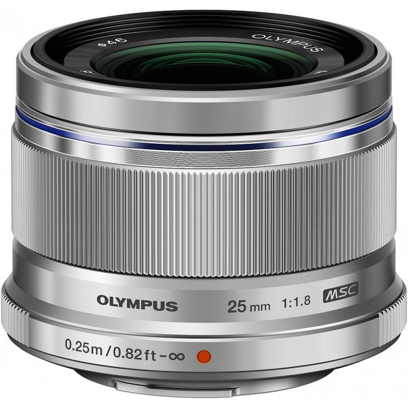 M.Zuiko Digital ED 25 мм f/1.8 объектив, серебристый