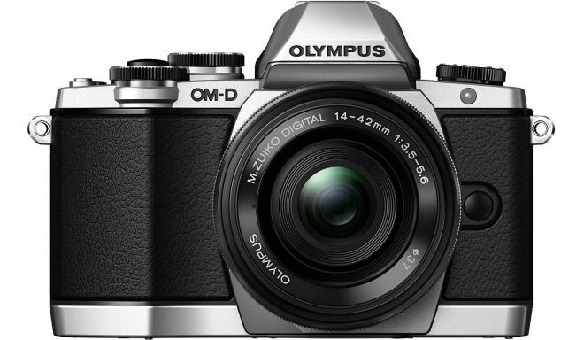 Olympus OM-D E-M10 + 14-42mm II R Kit, hõbedane