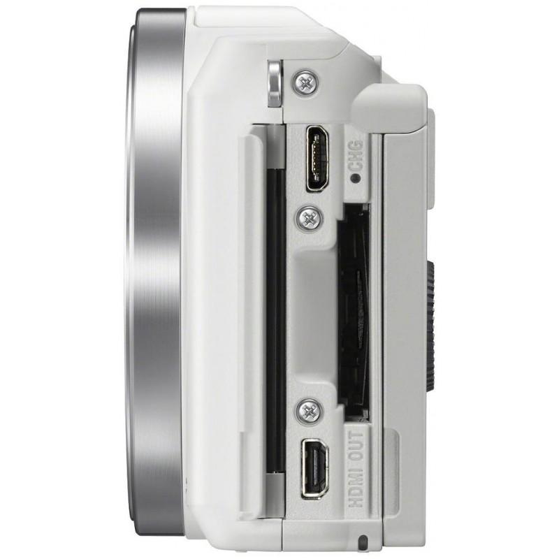 Sony a5000 + 16-50mm Kit, valge