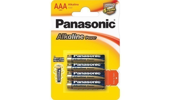 Panasonic Alkaline Power battery LR03APB/4B