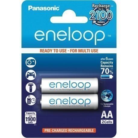 Panasonic eneloop аккумуляторные батарейки AA 1900 2BP