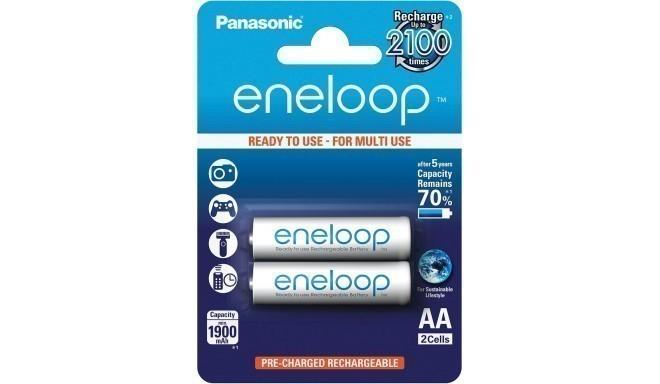 Panasonic eneloop akumulators AA 1900 2BP