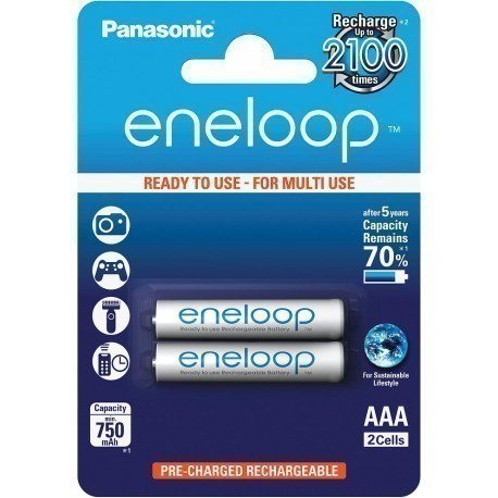 Panasonic eneloop rechargeable battery AAA 750 2BP