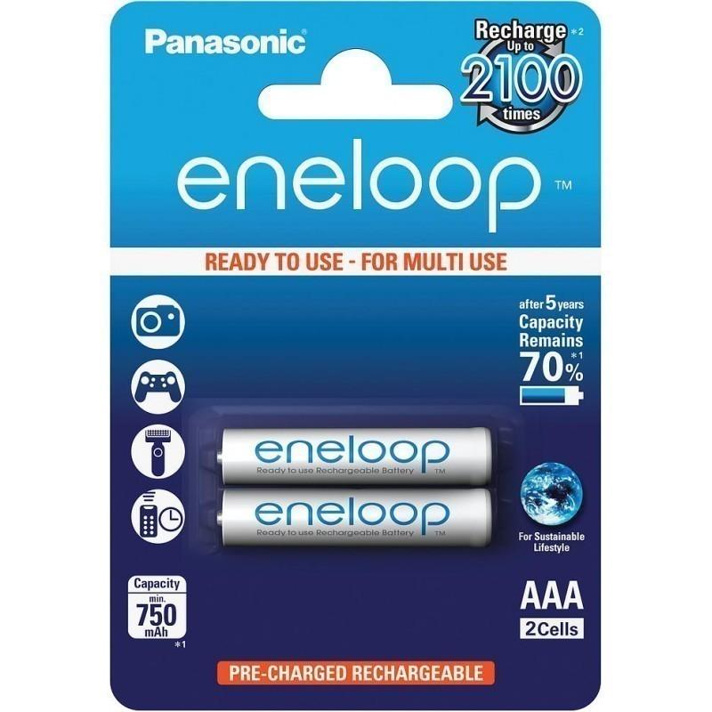 Panasonic eneloop rechargeable battery AAA 750 2BP
