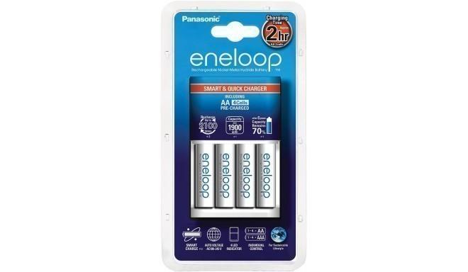 Panasonic eneloop зарядное устройство BQ-CC16 + 4x1900