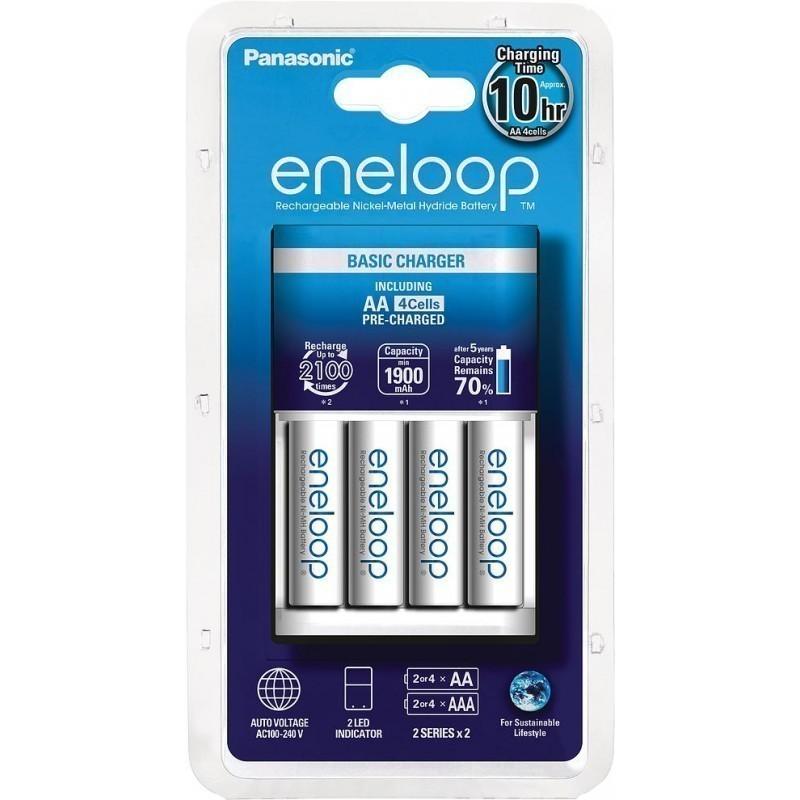 Panasonic eneloop laadija BQ-CC18+4x1900