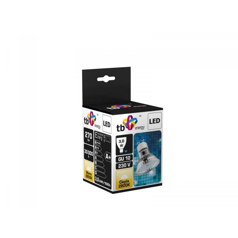 spot led gu10 230v 3w warm white led lamps photopoint. Black Bedroom Furniture Sets. Home Design Ideas